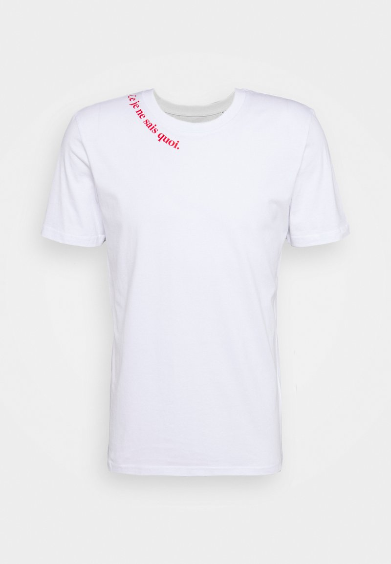 Les Petits Basics - CE JE EN SAIS QUOI UNISEX - Print T-shirt - white/red