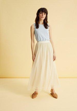 Pleated skirt - hellgelb