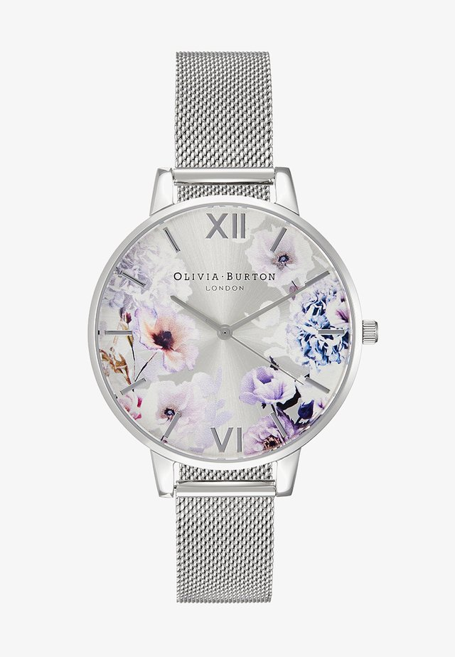 SUNLIGHT FLORALS - Klokke - silver-coloured