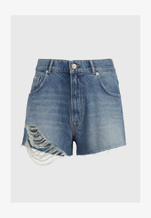 WINNIE - Denim shorts - blue
