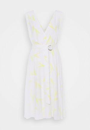 WRAP DRESS - Day dress - aurora/bright white