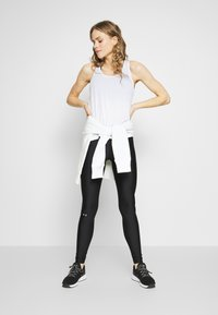 Under Armour - LEGGING BRANDED - Tights - black/white/metallic silver - 1