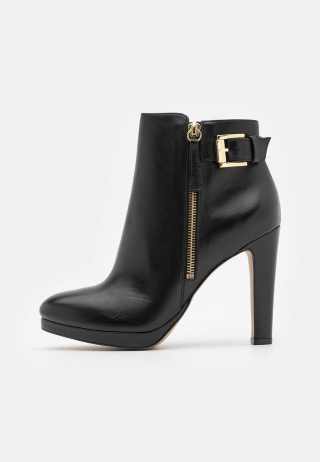 VASKEN - Kotníková obuv na vysokém podpatku - noir