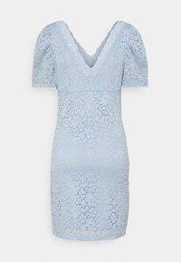 ONLY - ONLNEW ALBA PUFF V-NECK DRESS - Cocktailkjole - cashmere blue - 1