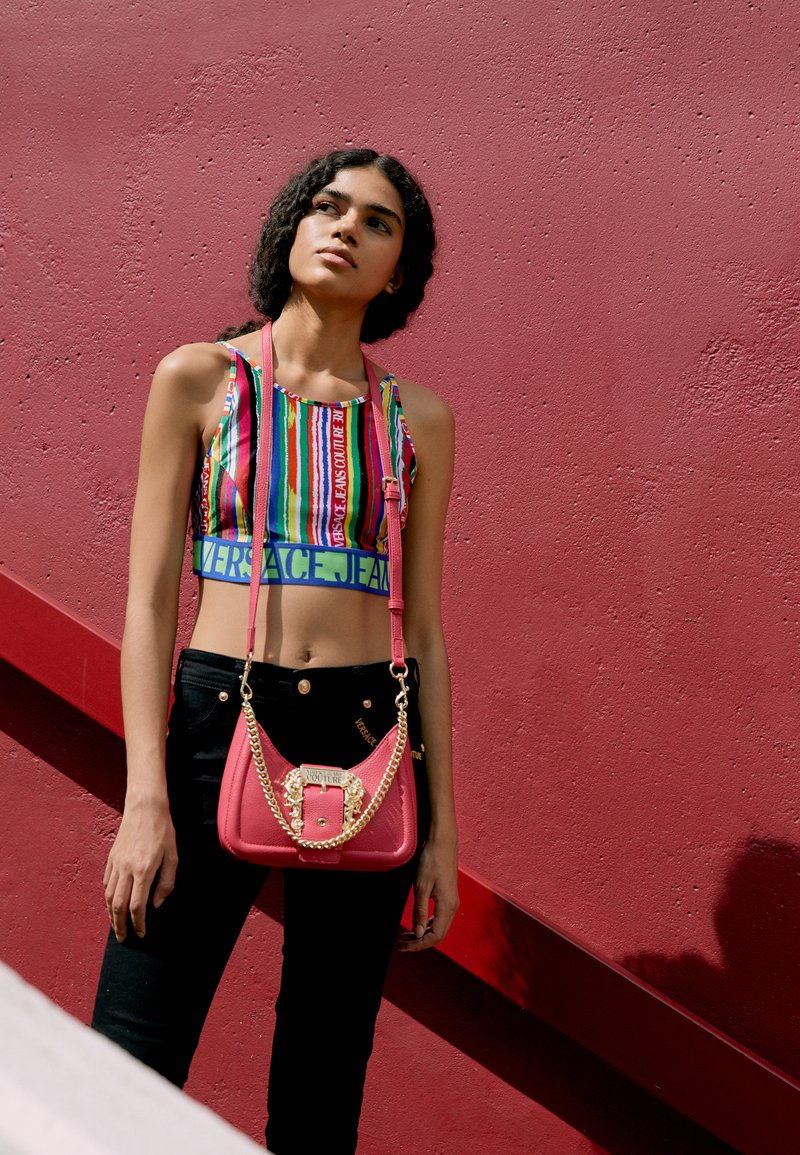 Versace Jeans Couture - BUCKLE SHOULDER BAG - Across body bag - paradise