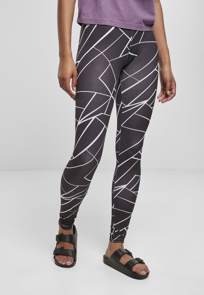 Urban Classics - Leggingsit - geometric black