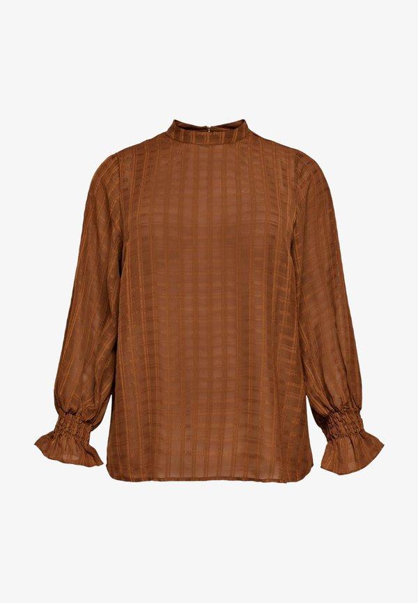 ONLY Carmakoma Bluzka - tobacco brown/brązowy melanż ACKI