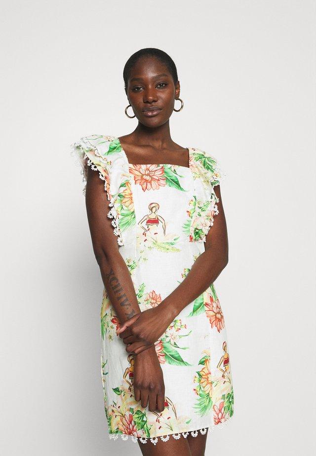 TROPICAL FLORAL MINI DRESS - Vapaa-ajan mekko - tropical floral