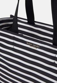 kate spade new york - MEDIUM TOTE - Tote bag - black/clotted cream - 3