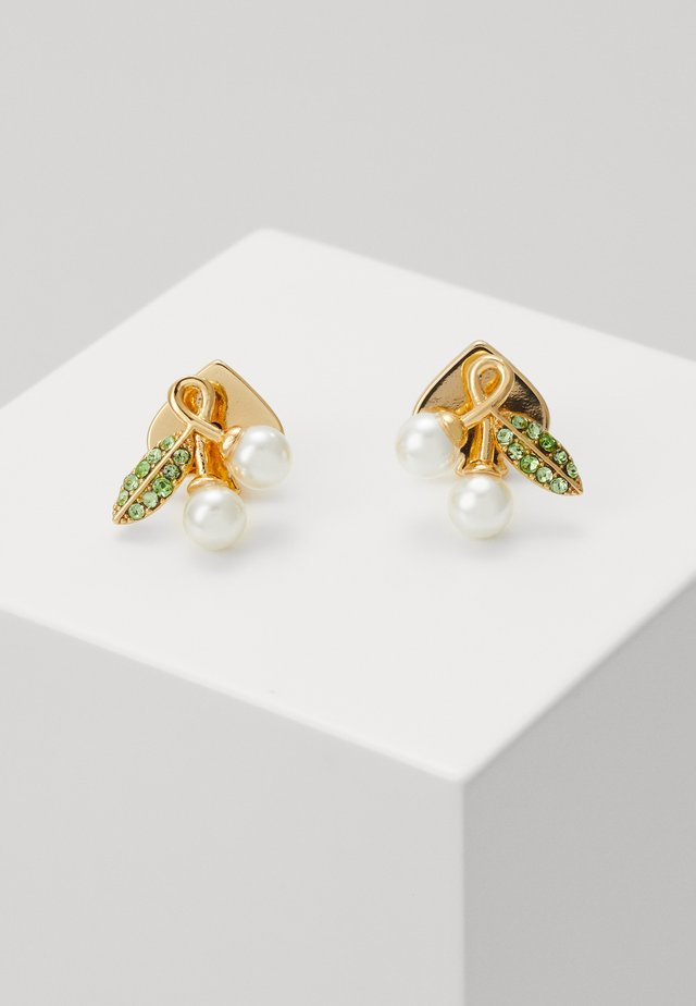 CHERIE CHERRY STUDS - Øreringe - gold-coloured