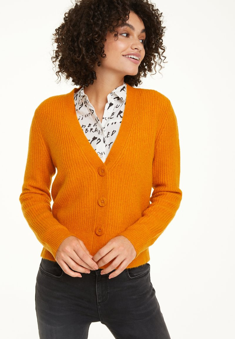 comma casual identity - Cardigan - curry