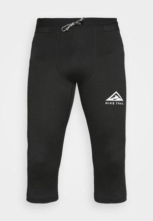 TRAIL 3/4 - Leggings - black/dark smoke grey/white