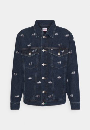 OVERSIZE TRUCKER JACKET UNISEX - Denim jacket - dark blue