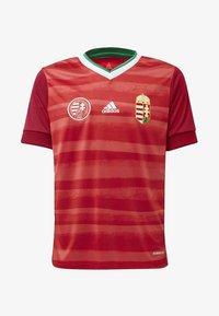 adidas Performance - HUNGARY HFF HOME AEROREADY JERSEY - Club wear - red - 0