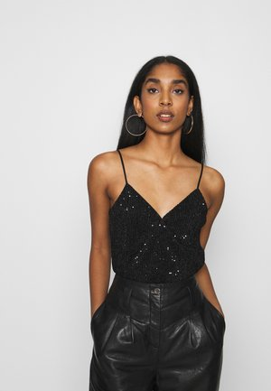 VMNOLA CROP SINGLET - Top - black/black