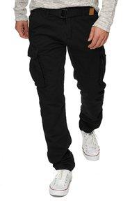 INDICODE JEANS - WILLIAM - Cargo trousers - new black - 0