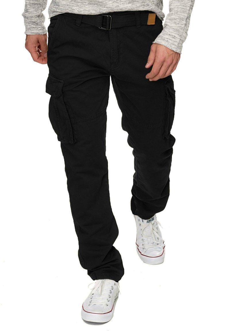 INDICODE JEANS - WILLIAM - Cargo trousers - new black