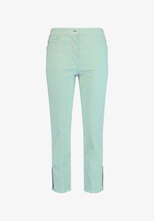 MIT FRANSENSAUM - Jeans Straight Leg - aqua grey
