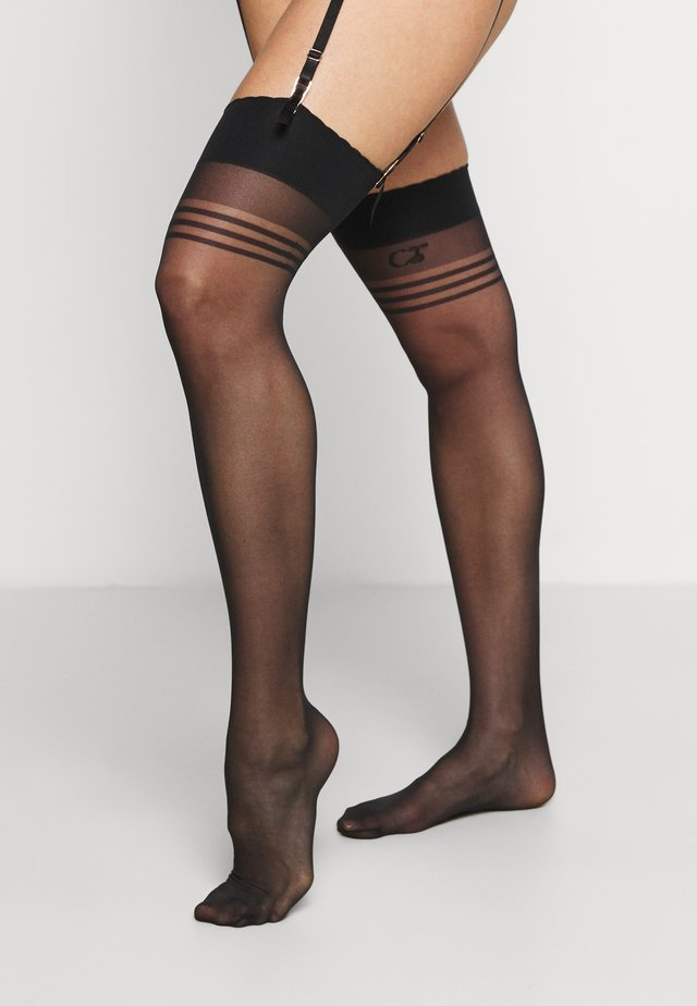 CHAUSSETTES BASICS HALTERLOSER - Over-the-knee socks - schwarz