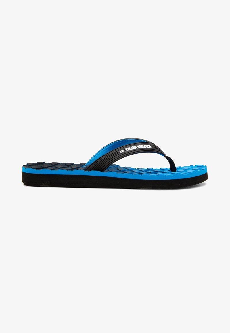 Quiksilver - MASSAGE  - Pool shoes - black/blue/grey
