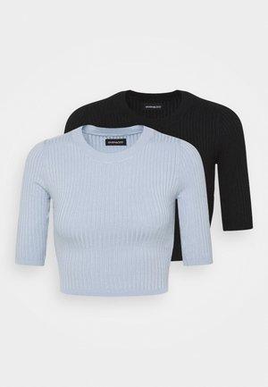 2 PACK - T-shirt basic - black/blue