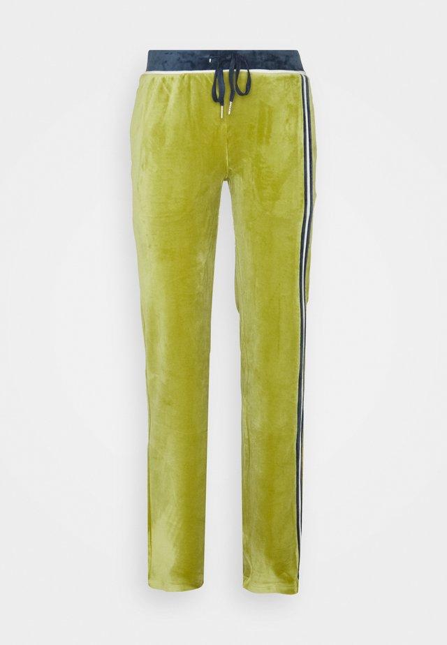 TRACK PANTS - Trainingsbroek - green/blue