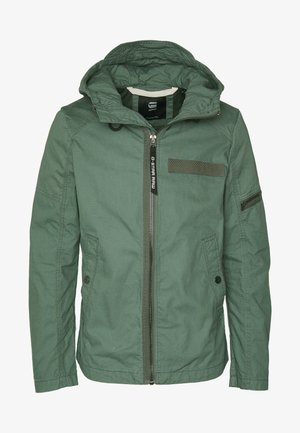 BATT HOODED - Summer jacket - grey moss