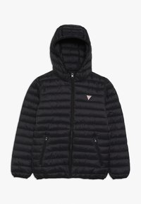 Guess - JUNIOR UNISEX PADDED PUFFER - Zimní bunda - jet black - 0