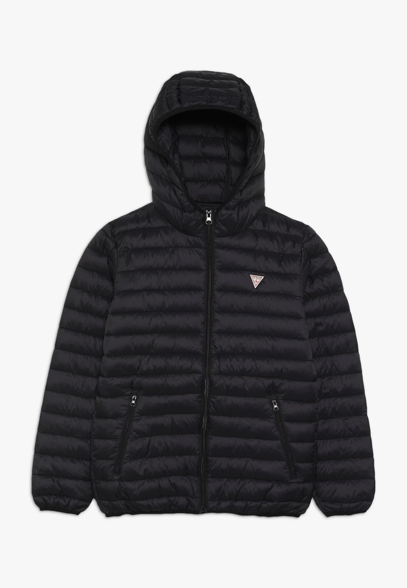Guess - JUNIOR UNISEX PADDED PUFFER - Zimní bunda - jet black