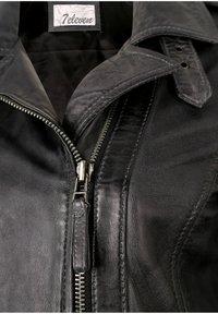7eleven - IN TRENDIGEM LOOK - Leather jacket - anthra - 2