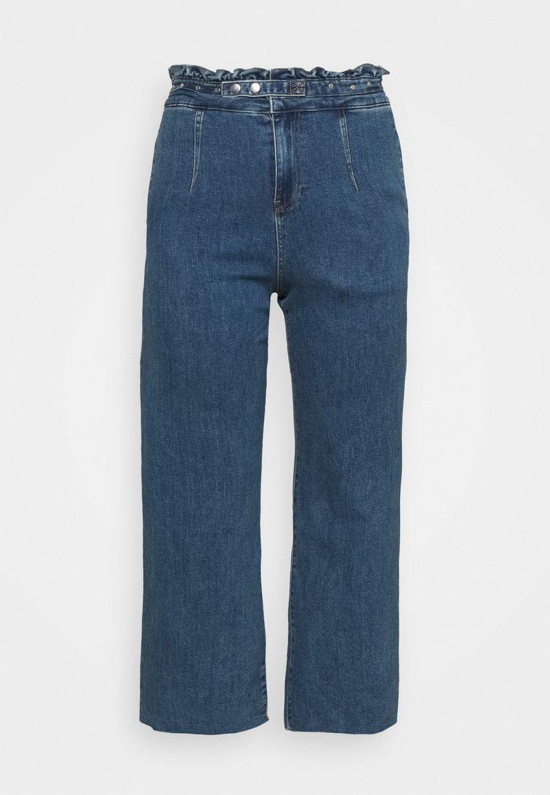 Simply Be - WIDE LEG - Jeans baggy - vintage blue