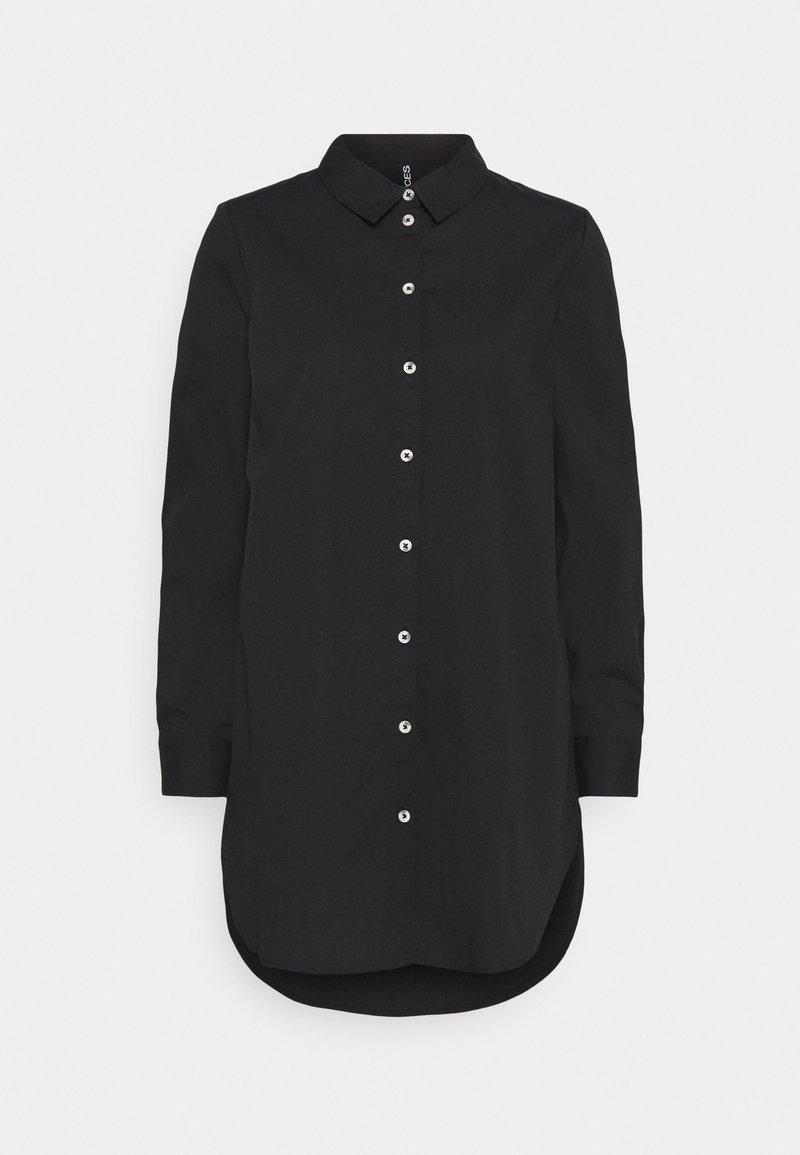 Pieces - PCNOMA LONG  - Button-down blouse - black