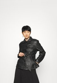 Deadwood - TYRA JACKET - Leather jacket - black