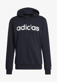 adidas Performance - ESSENTIALS FRENCH TERRY LINEAR LOGO HOODIE - Hoodie - blue - 6