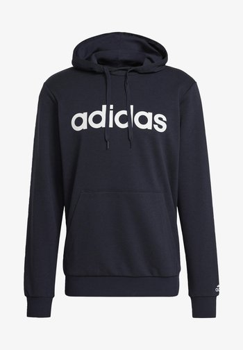ESSENTIALS FRENCH TERRY LINEAR LOGO HOODIE - Hoodie - blue