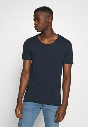JJDETAIL TEE U NECK - Basic T-shirt - navy blazer
