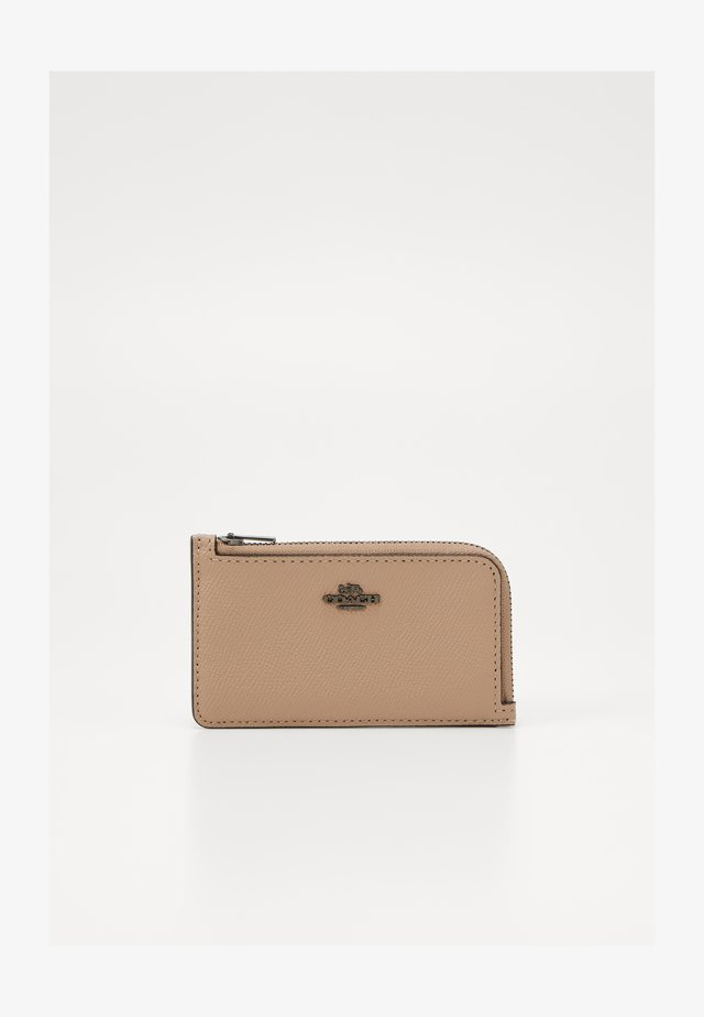 NEUTRAL BLOCKING POP SMALL ZIP CARD CASE - Portefeuille - taupe/multi