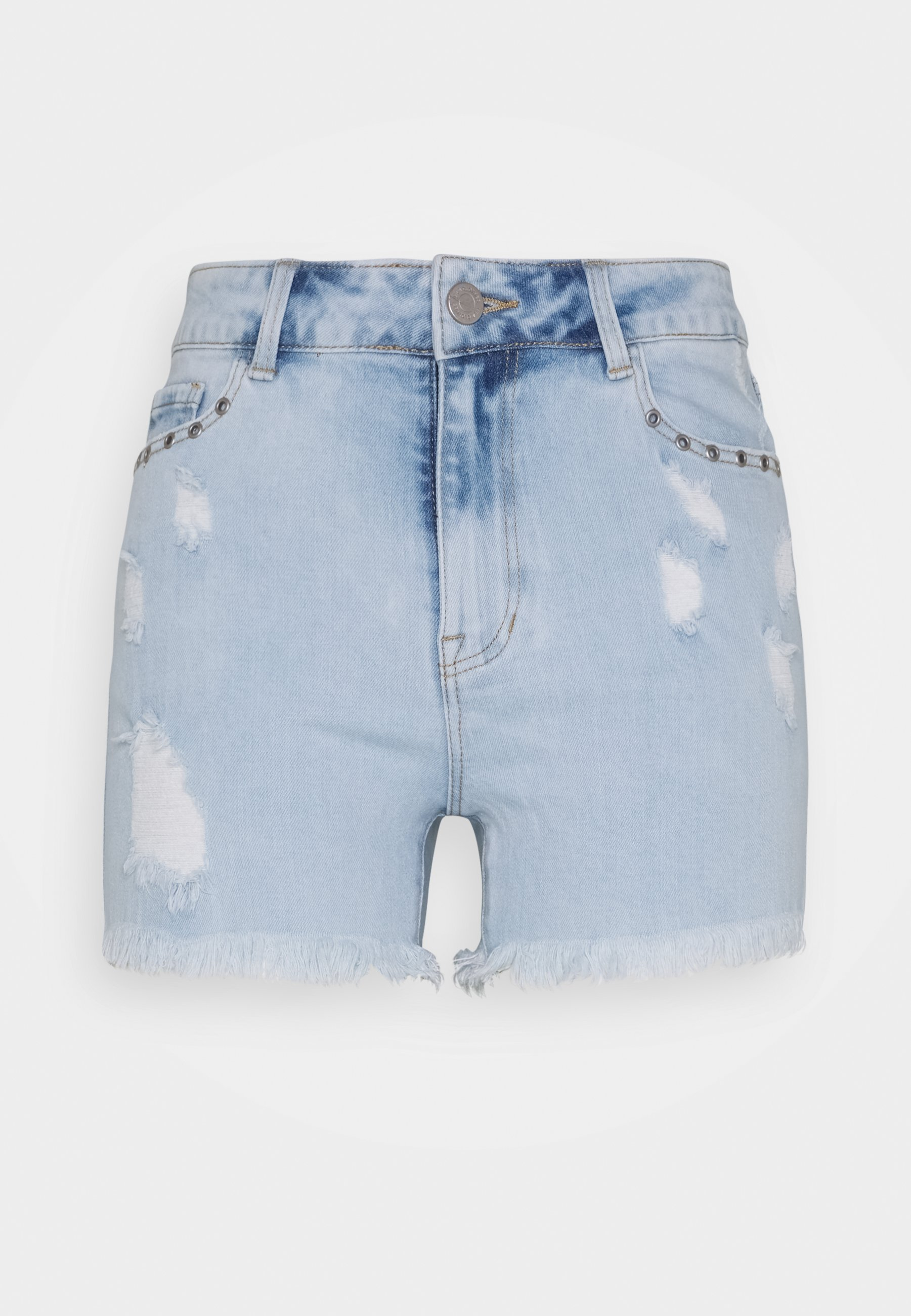 Vila VIROY FESTIVAL DENIM SHORTS - Shorts - light blue denim