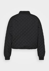 Missguided Plus - DIAMOND QUILTED BOMBER - Bomber Jacket - black - 1