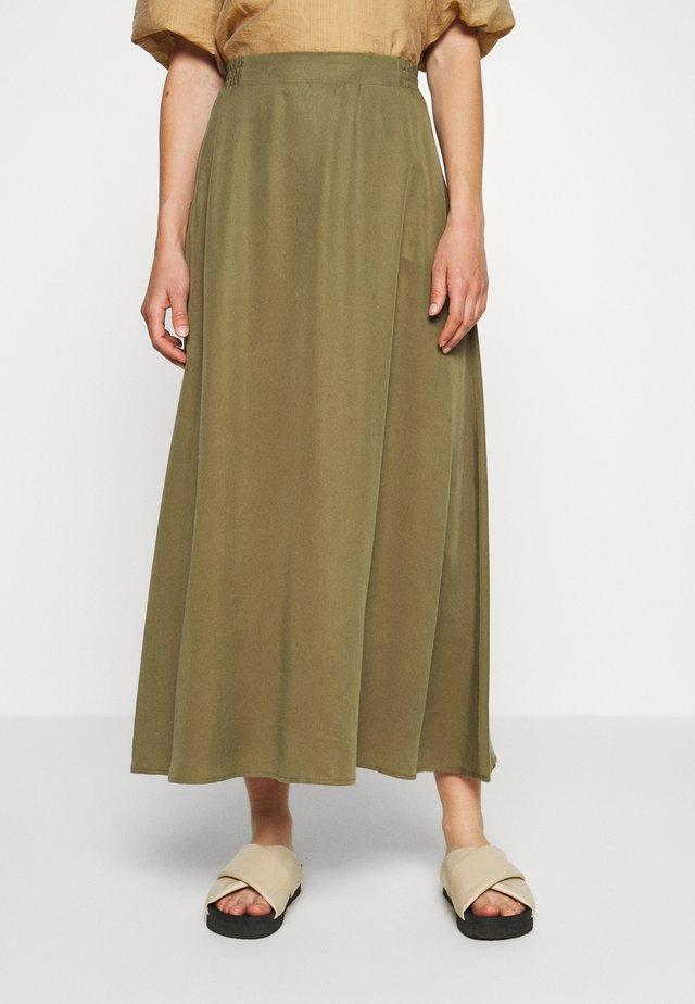 OBJTILDA SKIRT - A-line skirt - burnt olive