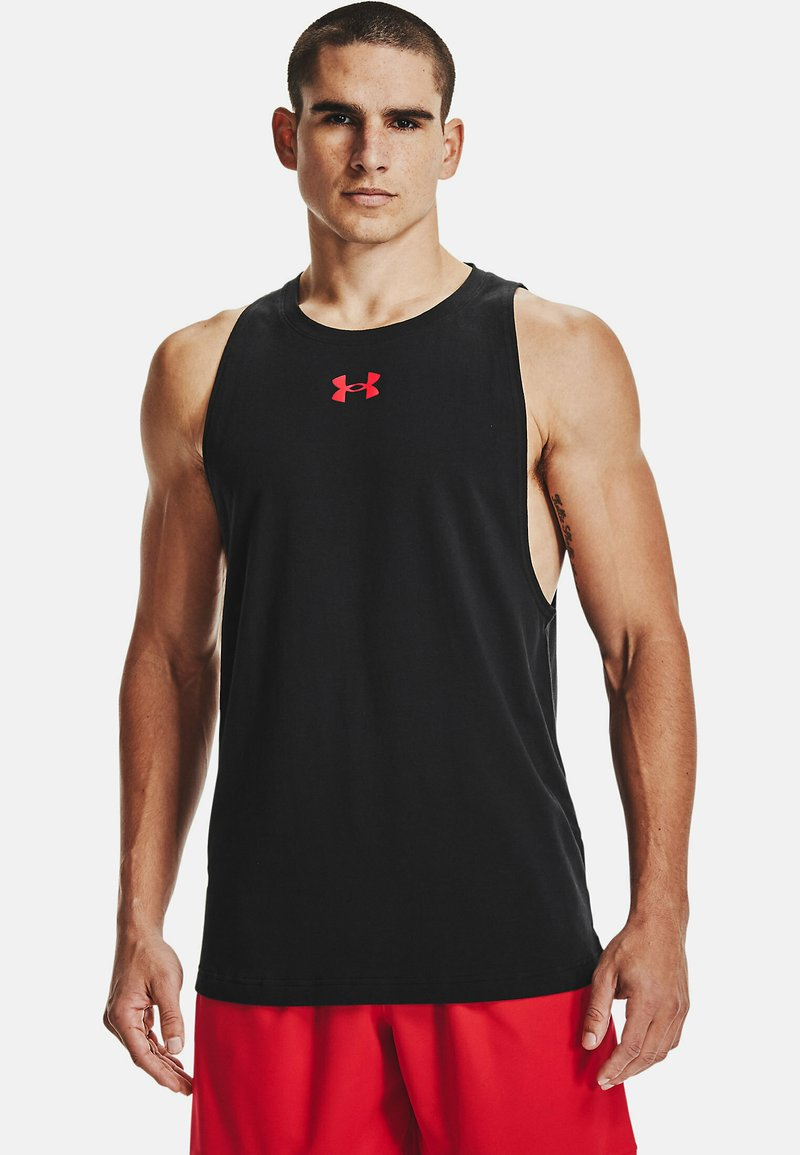Under Armour - Top - black  red  red