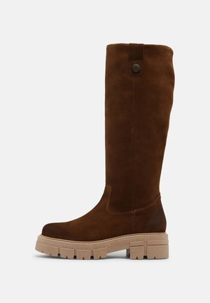 CAGE - Platform boots - taupe