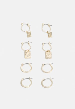 PCDICTA HOOP EARRINGS 4 PACK - Náušnice - gold-coloured
