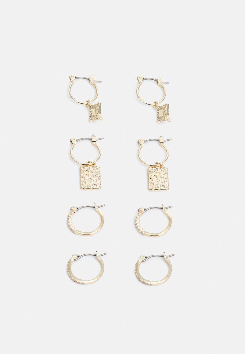 Pieces - PCDICTA HOOP EARRINGS 4 PACK - Earrings - gold-coloured