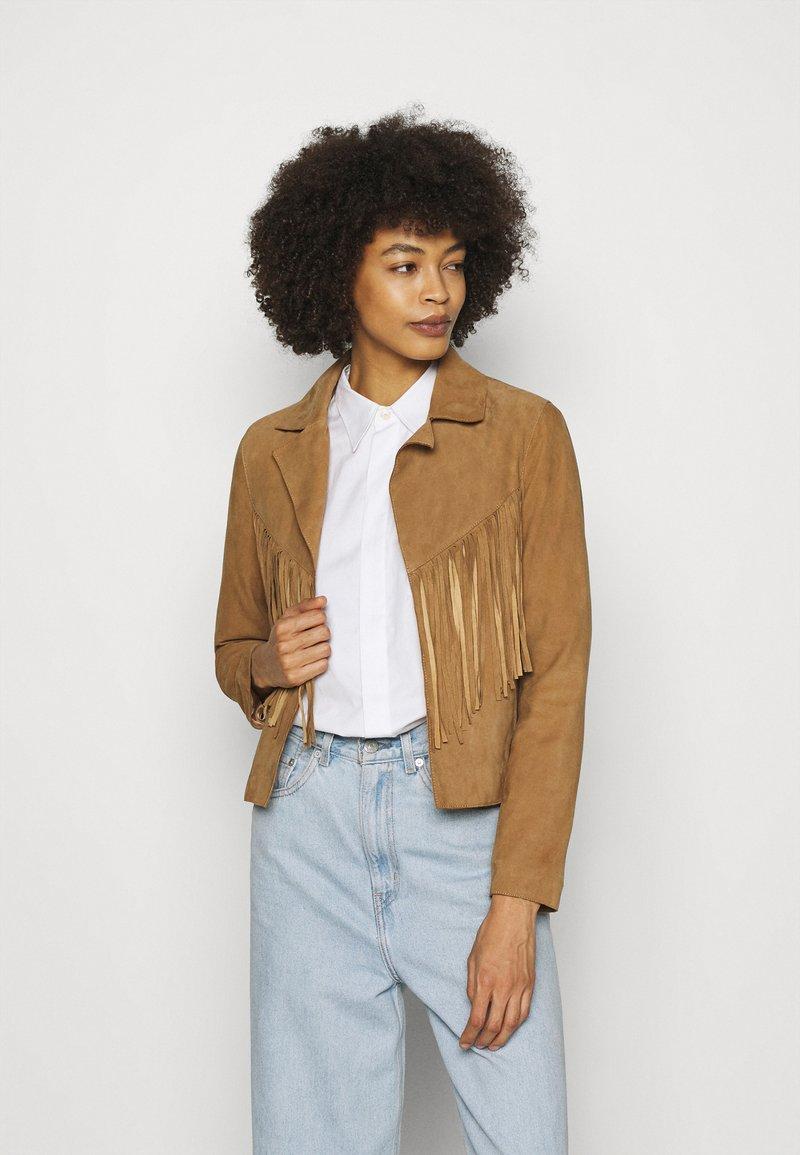 Oakwood - JANIS - Leather jacket - tan