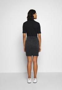 LTB - MIRAH - Denimová sukně - black denim - 2