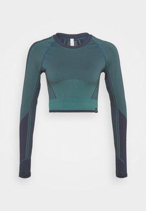 LEGEND SHINE CROP - Maglietta a manica lunga - blue violet