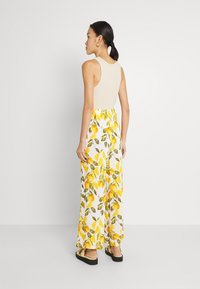Never Fully Dressed - GROVE FREYA TROUSER - Trousers - white/yellow - 2