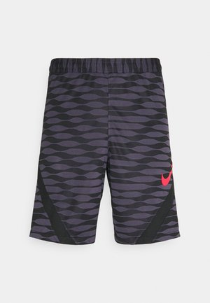 SHORT - Sports shorts - black/dark raisin/siren red