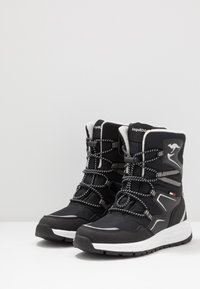 KangaROOS - K-LUCKY RTX - Lace-up boots - jet black/silver - 3